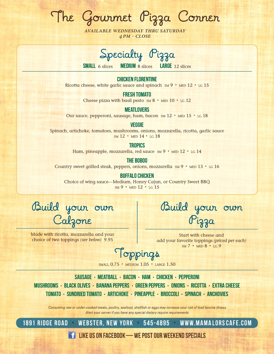 Pizza Menu June 2014